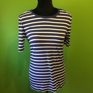 Michael Kors striped t-shirt blue and white
